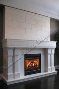french limestone fireplace mantel