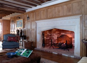 limestone travertine fireplace mantel